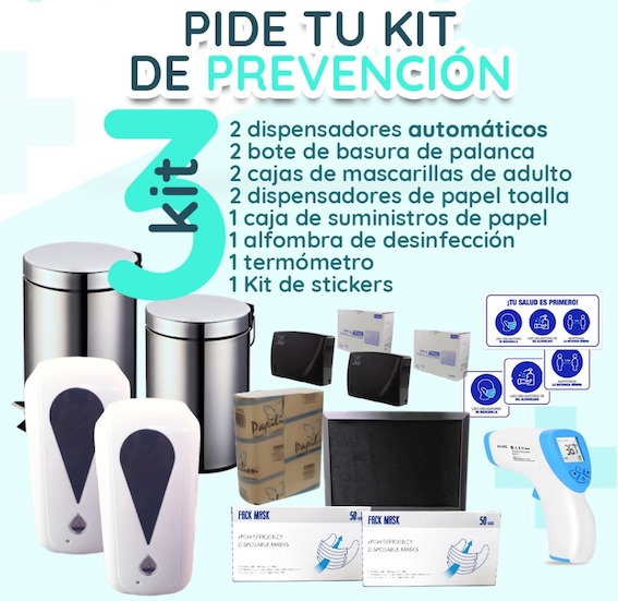 Kit de Sticker para protocolo de seguridad post covid