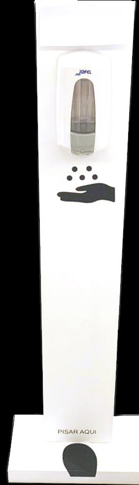 Pedestal para dispensador de gel